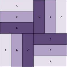 quilt block. Fácil fácil