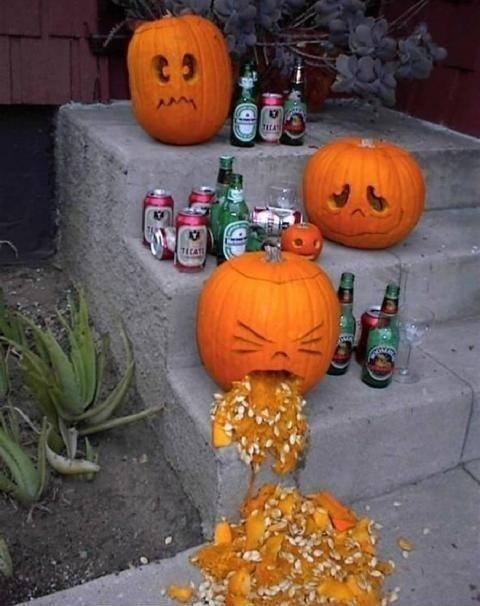 Party Hard: Happyhalloween, Halloween Parties, Halloween Pumpkin, Funny, Pumpkin Carvings, Drinks, Halloween Ideas, Pumpkin Parties, Happy Halloween