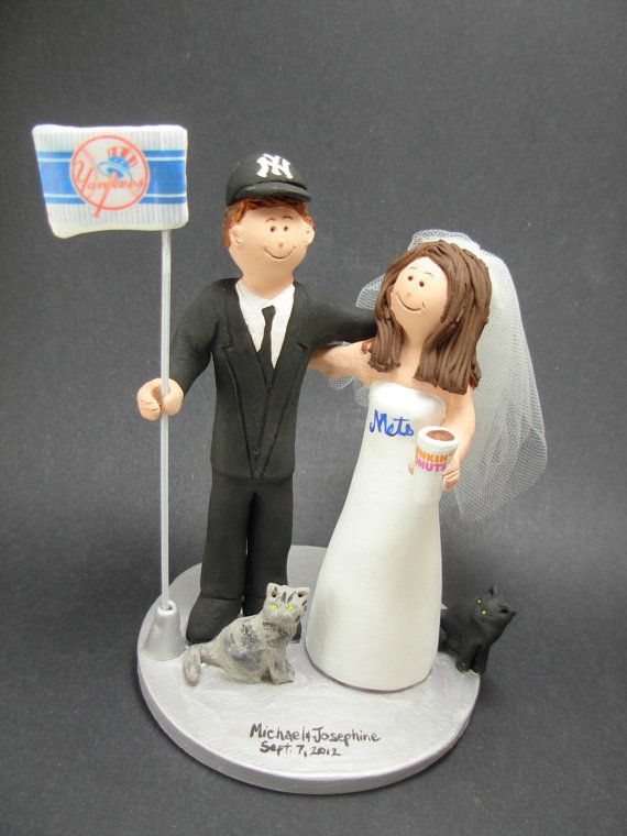 Dunkin Donuts Wedding Cake Topper    Wedding Cake Topper for MLB Baseball Fans, custom created for you!    $235   #magicmud   1 800 231 9814   www.magicmud.com