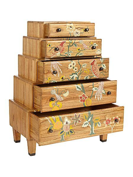 Plume stacked 5 drawer chest - an amazing piece of furniture! WOW. #HOFatHOME