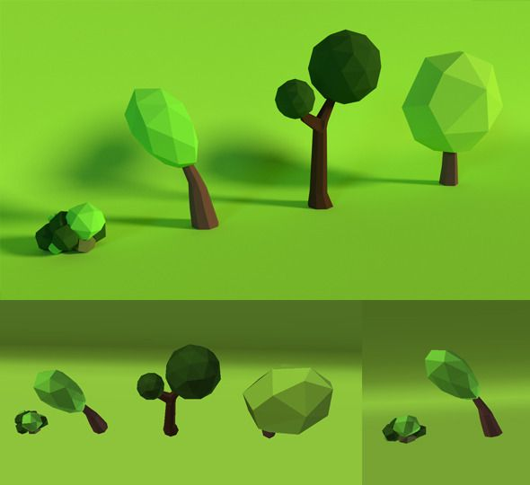 LowPoly Trees .Pack5