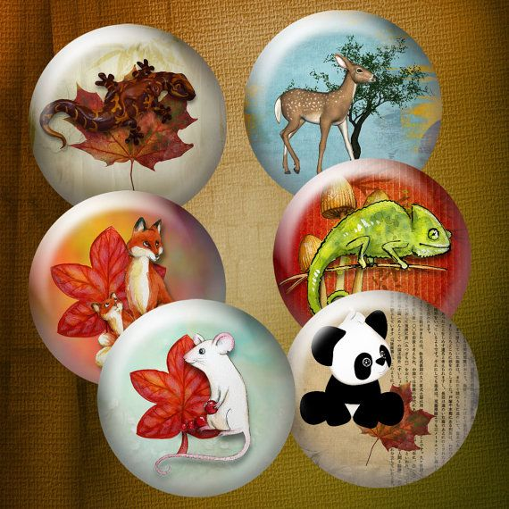 ANIMALS  Digital Download  Stickers  Pendants by DesertLifeArt, $4.50