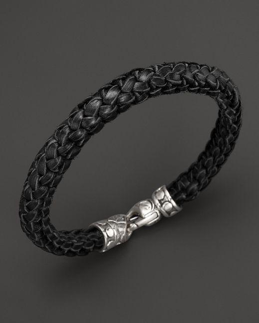 Scott Kay Black Leather Equestrian Bracelet