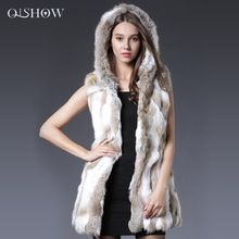 2016 Orijinal Tavşan Kürk Yelek Kapşonlu Tavşan Kürk Yelek Kış gerçek Kürk Ceket Kadınlar Için Moda Gerçek Tavşan Kürk Mantolar kolsuz(China (Mainland))