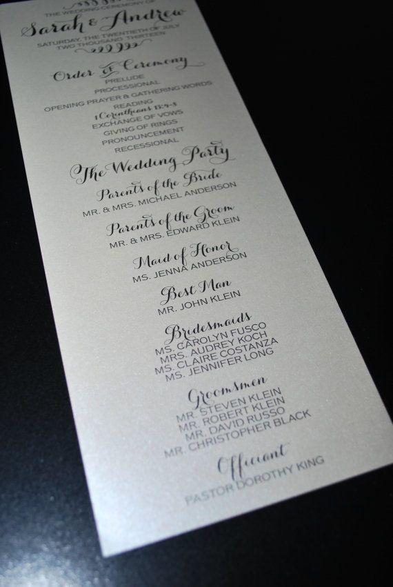 best 25  wedding program examples ideas on pinterest