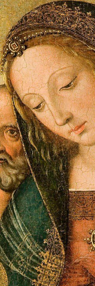 Il Pinturicchio, Madonna con Bambino e Santi (particolare)