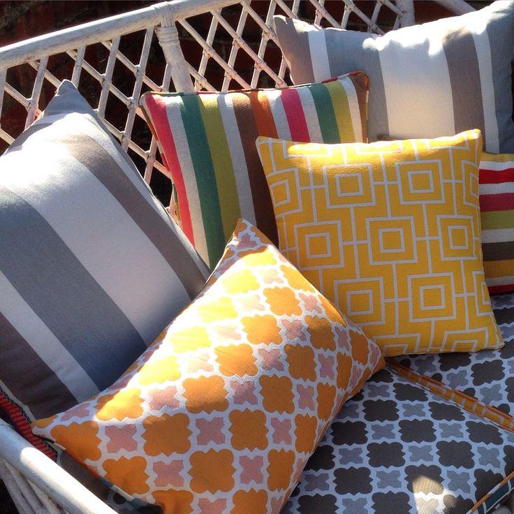 Fabrics by Warwick Fabrics and Harlequin Fabrics.