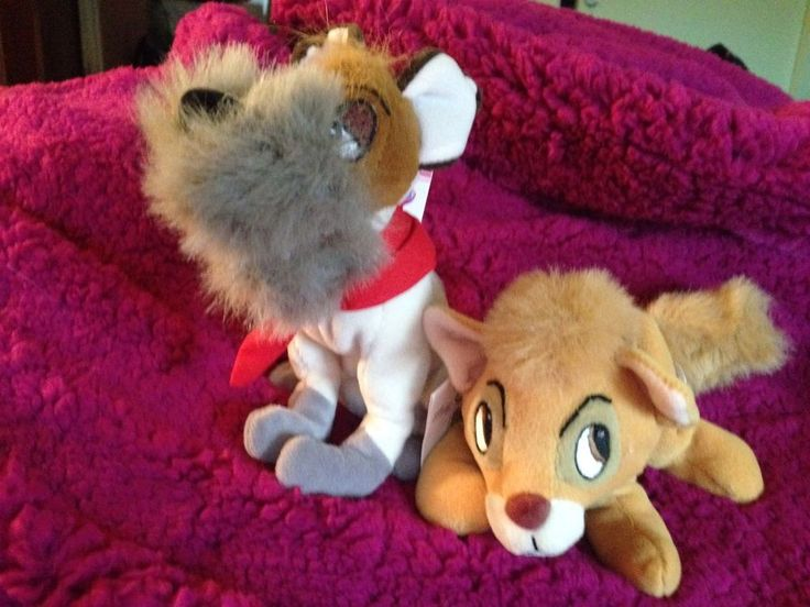 Disney Oliver and Company Dodger Oliver Plush Beanbags New ...