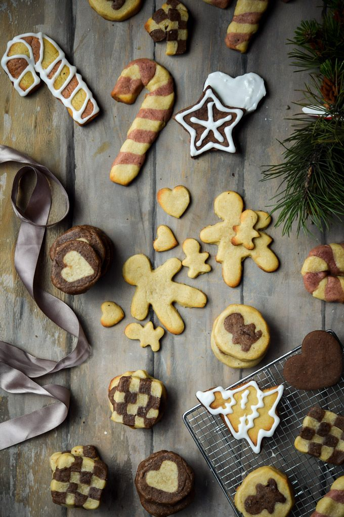 Holiday Cookie Week #4: Super Versatile Chocolate & Vanilla Sugar Cookies