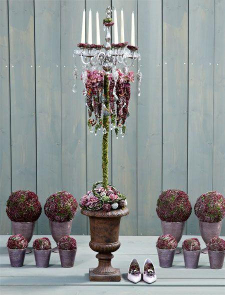 Bastelanleitung: Kerzenleuchter mit Heide-Dekoration - Seite 2 - Wohnen & Garten