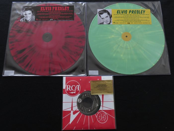 Online Veilinghuis Catawiki Elvis Presley Great Lot Of 2 Limited Splatter Lp S 1 Limited Coloured