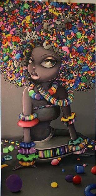 Black Women Art! – Ebony Bones by Vinnie Graffiti