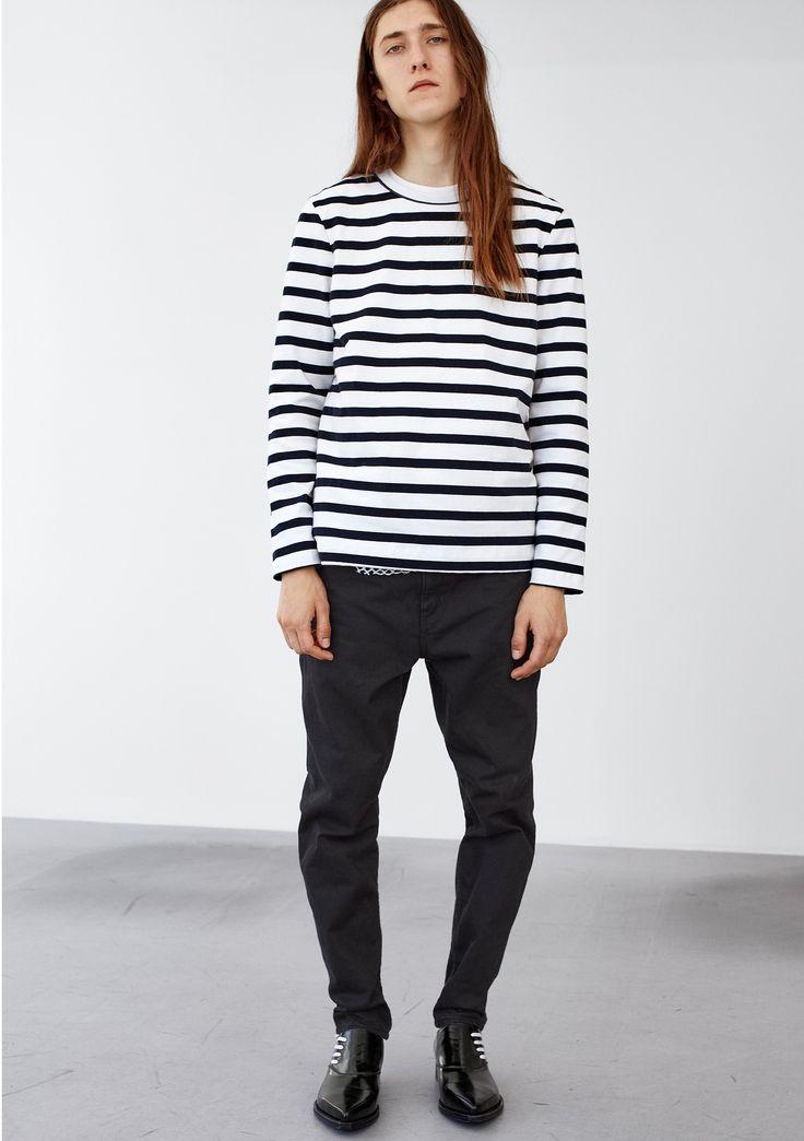 Pen Ls Tee - Blue Stripe  #HopeStockholm