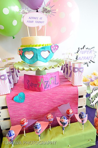 These ideas would go great worth a Big Bang Themed party. Super Hero Party Printables now available!