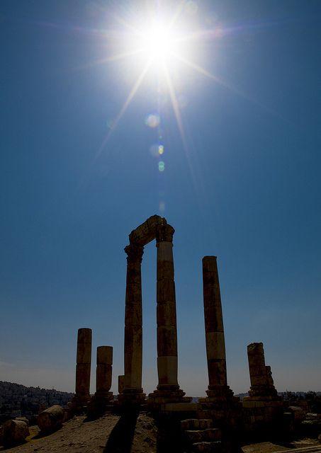 Temple Of Hercules in the city of Amman in Jordan #kitsakis