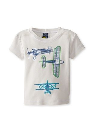 46% OFF Charlie Rocket Boy's Plane Short Sleeve Tee (Stone)