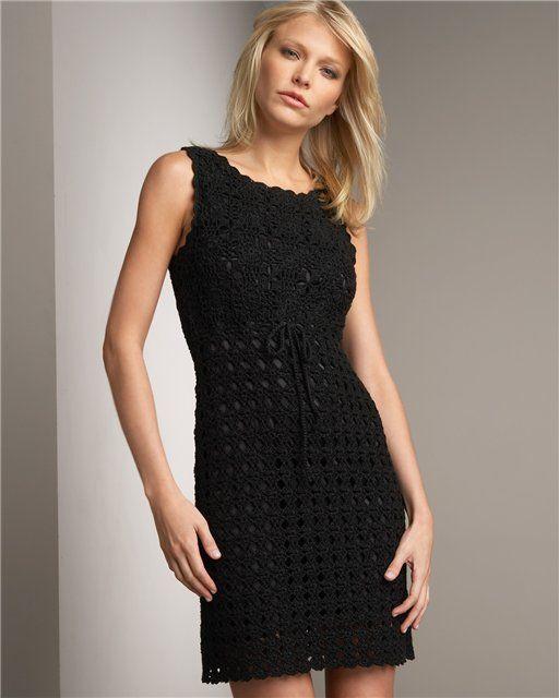 Black Motif Dress free crochet graph pattern more: http://pinterest.com/gigibrazil/crochet-and-knitting-lovers/