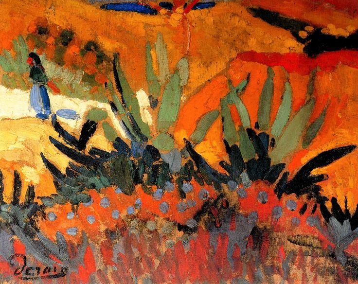 """""""André Derain (France 1880-1954) Paysage de Collioure """""""