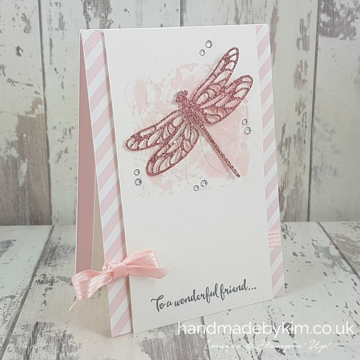 Global Design Project entry for #GDP068 - CASE the designer Jess Williams using Dragonfly Thinlit Dies by Stampin' Up! demonstrator Kim Prrce from Somerset, UK