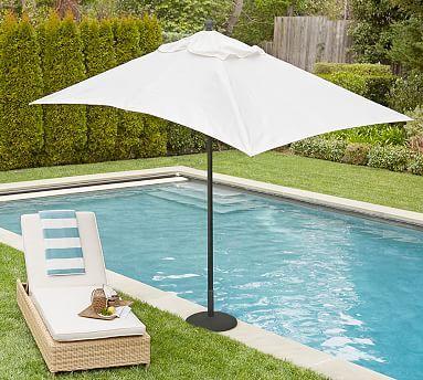Premium Sunbrella® Rectangular Umbrella - Solid  #potterybarn #mypotterybarn