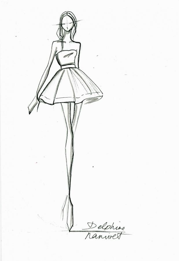 croquis de styliste haute couture - Recherche Google ...