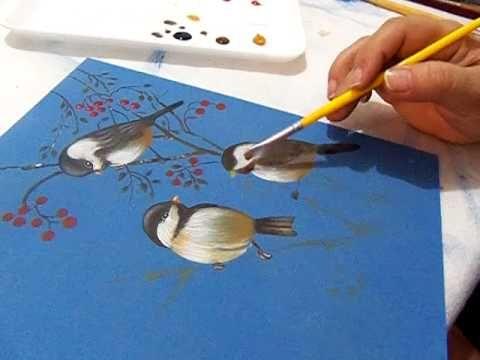 Pintura em Mdf com STENCIL LITOARTE - TRIO DE PÁSSAROS - ST-275