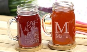 Groupon - One or Two Personalized Glass Jars from Monogram Online (Up to 83% Off). Groupon deal price: $5