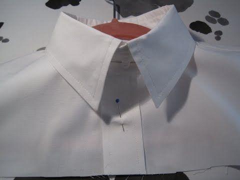 Sy en klassisk snygg skjortkrage! - YouTube