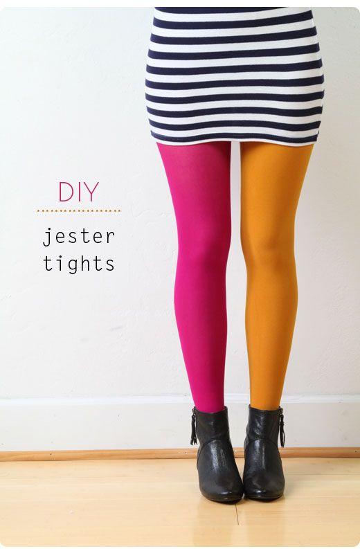15 DIY Tights Ideas jester tights