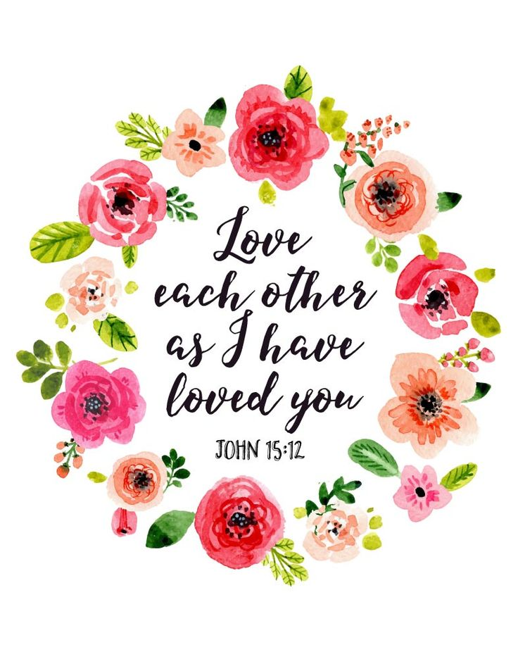 $5.00 Bible Verse Print - Love each other as I have loved you John 15:12  A simple request from Jesus to love each other as He has loved us. However, at times this may not be so easy especially when we let everyday life things get to us. A slow computer, spilled coffee, or maybe even that neighbor's dog that just won't stop barking. So a reminder to love as He has loved us is just what we might need - Different size options available. #bibleverseprint #christianart #womensbibleverse