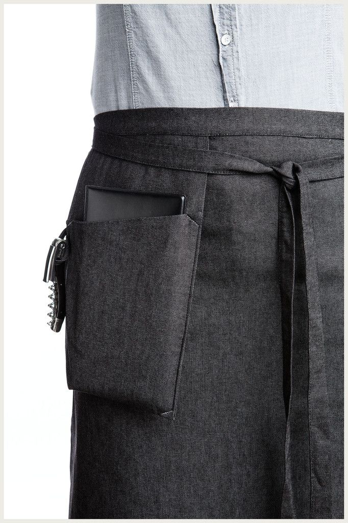Designer Half Apron - Hanging Pocket http://www.shannonreed.com/collections/aprons/products/hanging-pocket-half-apron