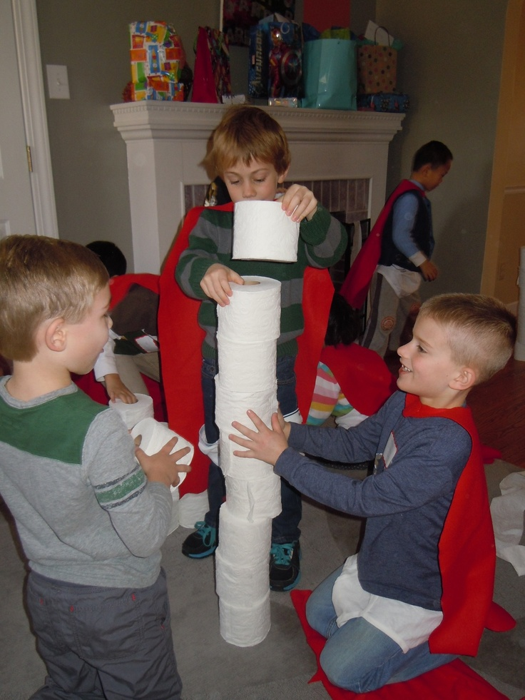 Who Can Build the Tallest Tower Game--warning: this ended in a TP fight