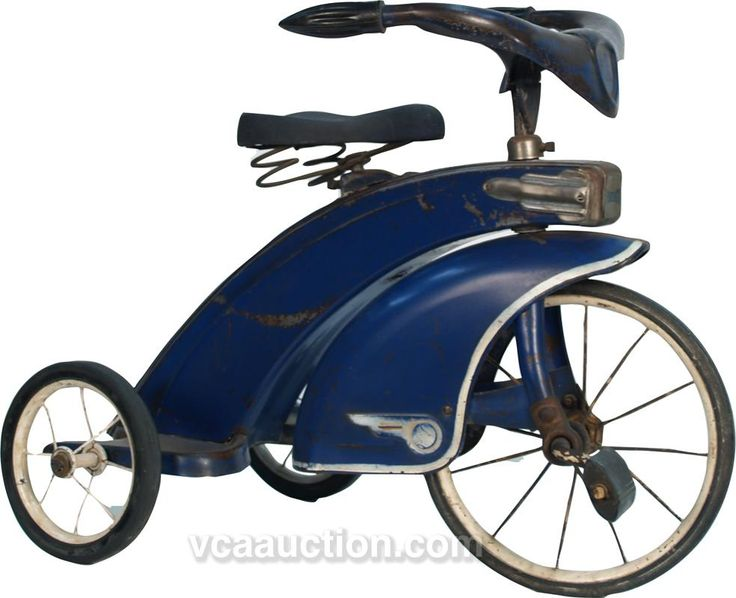 Vintage Steel Craft c1930's Blue Art Deco Tricycle
