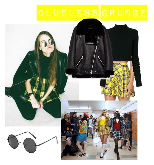 clueless grunge by bored-and-broken-madlen on Polyvore featuring Faith Connexion and WithChic