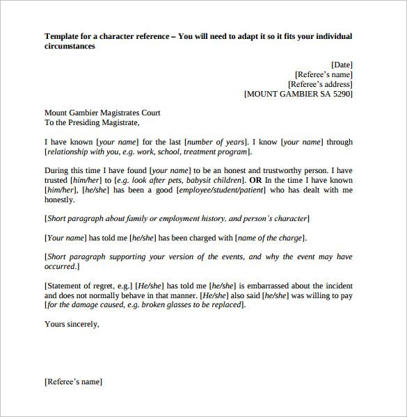 Best 25+ Employee recommendation letter ideas on Pinterest - personal reference letter templates