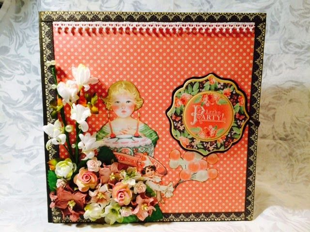 Crafting Passions: Birthday Scrapbook with Graphic 45 Time to Celebra...