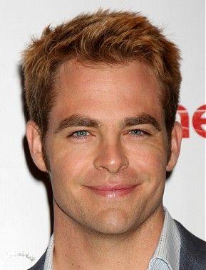 short brown straight coloured multi-tonal spikey Chris Pine Mens haircut hairstyles for men
