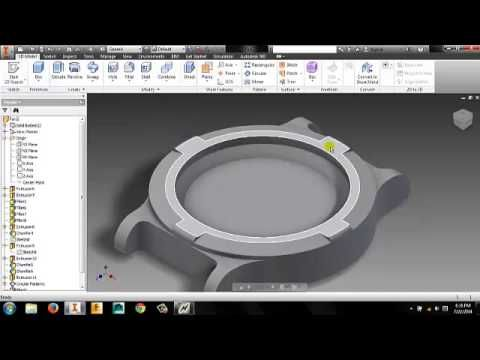 Autodesk Inventor 2015 - Modeling a Simple Watch