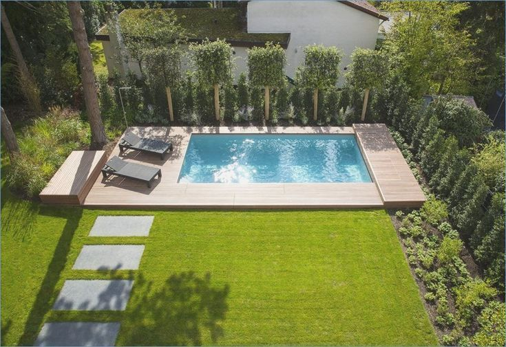 Garden With Pool Garden Pool Garden Pool A Mini Pool Is Quickly Set Up Often Surpris In 2020 Pool Landscape Design Backyard Pool Designs Small Backyard Pools