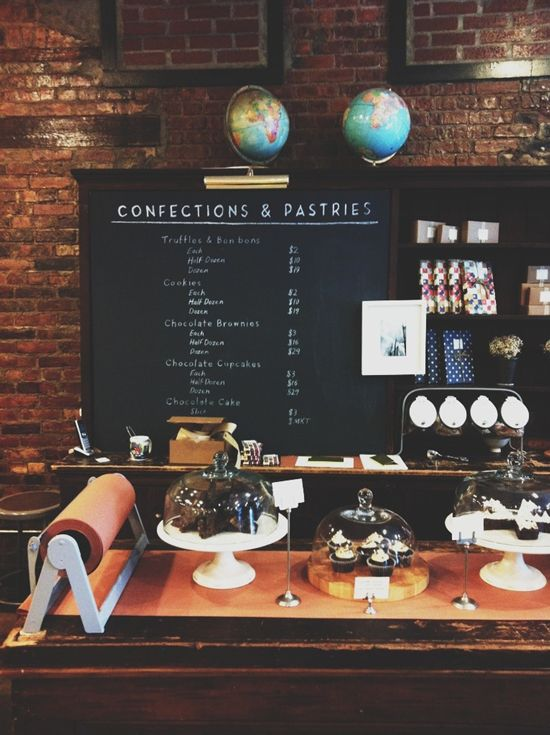 Mast Brothers chalk board inspiration