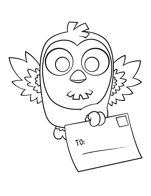bayku baykukalb kalplar boyama - Cute Owl Coloring Pages Girls