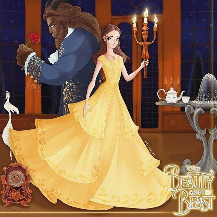 Beauty and the Beast- Belle and the Beast and their Enchanted Friends