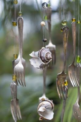 silverware windchimes images   | the mermaid's mercantile: last Sunday.... was sweet and beautiful at ...