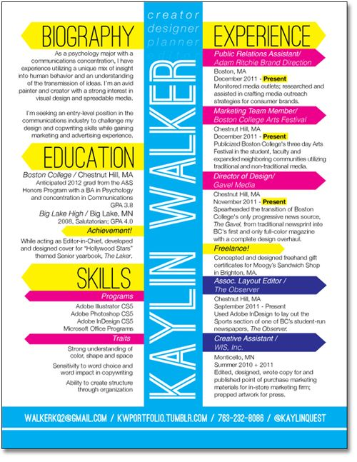 80 best images about resumes on pinterest