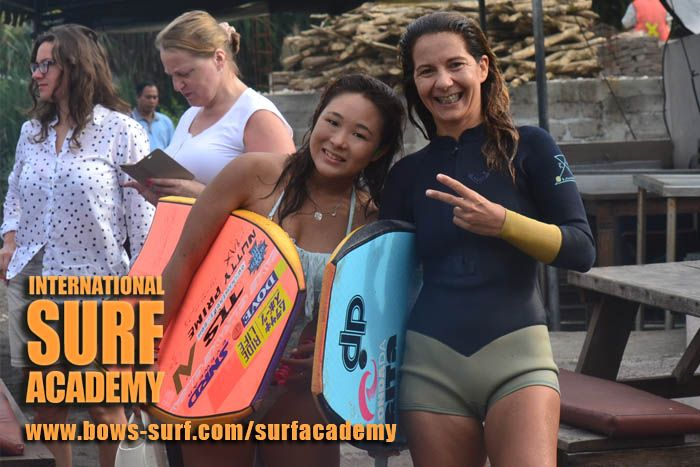 Bodyboard Training with Rita Pires & Ayaka Suzuki http://bows-surf.com/surfacademy/