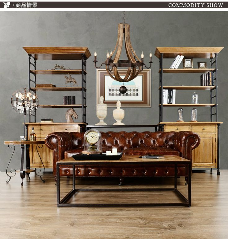 Loft american country wrought iron furniture hanni dayton for Wrought iron living room furniture