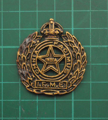 Cap Badge Indian Electrical Mechanical Engineers Kc Ab B