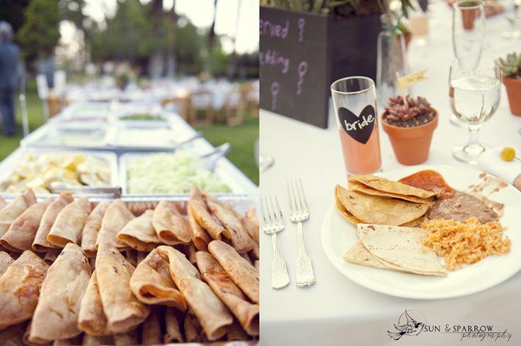 Yummmmm Mexican food at a wedding... Kyle & Molly DIY wedding in Palm Springs