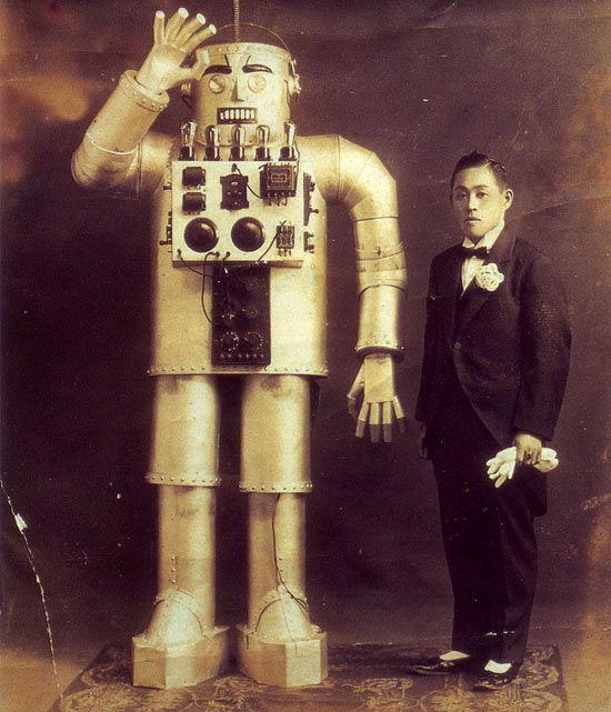 Best robot photo ever!! Yasutaro Mitsui 1932