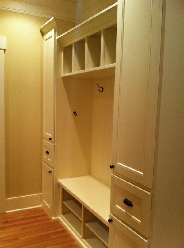 builtin entryway benches and coatracks | Custom Entry Bench Built-In… | Portland Interior Designer | GHID